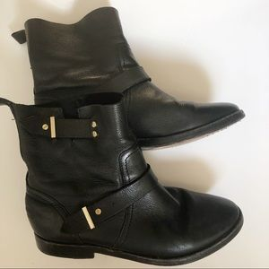 Joie black leather booties size 35.5